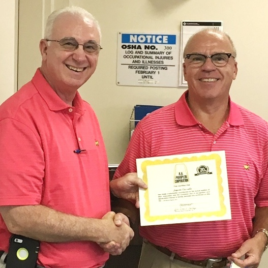 Dr. Jayson Vassallo - 20 years of service (August 2017)