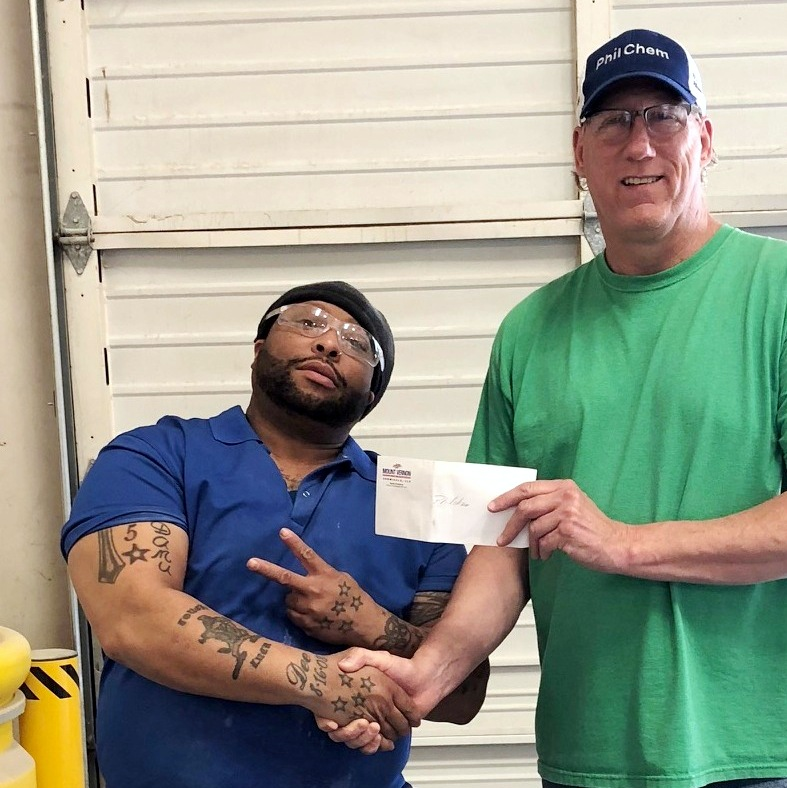 Marcus Jackson - Philchem Employee of the Quarter Q1 2018