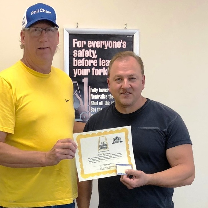 David (Sean) Lownsbery - 20 years of service (June 2018)