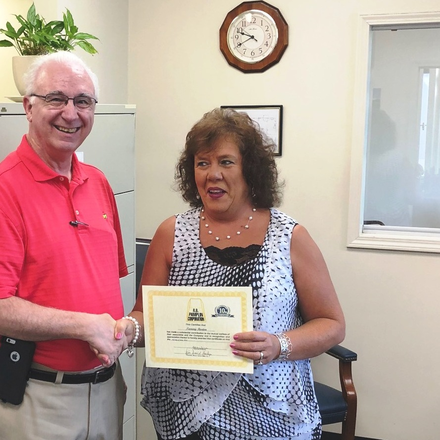 Tammy Barton - 10 years of service (June 2018)